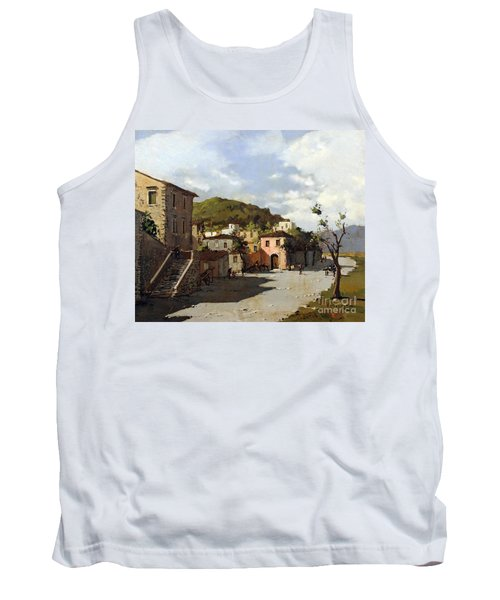 Tank Top featuring the painting Provincia Di Benevento-italy Small Town The Road Home by Rosario Piazza
