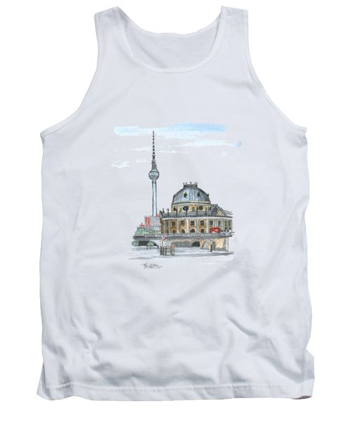 Berlin Fernsehturm Tank Top by Petra Stephens