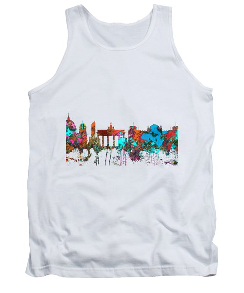 Berlin Germany Skyline  Tank Top by Marlene Watson