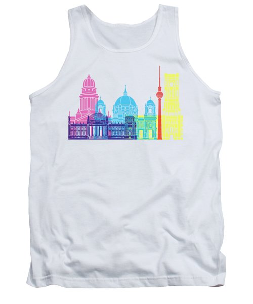 Berlin V2 Skyline Pop Tank Top by Pablo Romero
