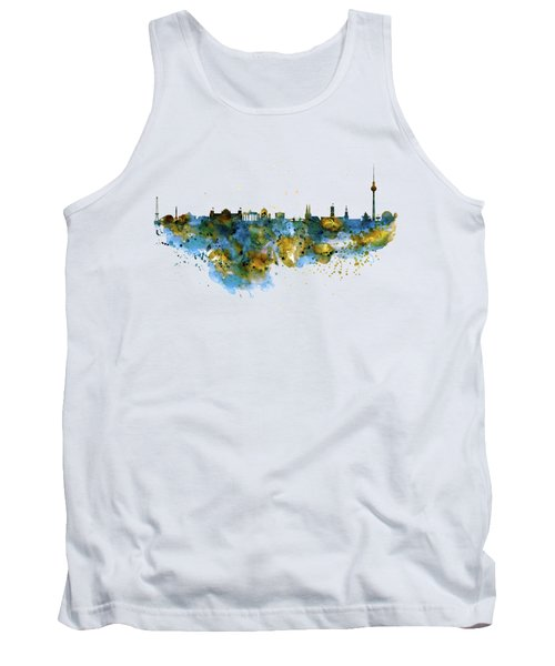 Berlin Watercolor Skyline Tank Top