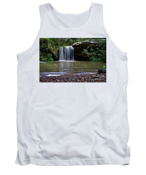 Tank Top featuring the photograph Berowra Waterfall by Werner Padarin