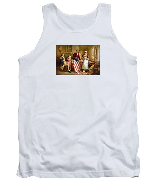 Betsy Ross And General George Washington Tank Top