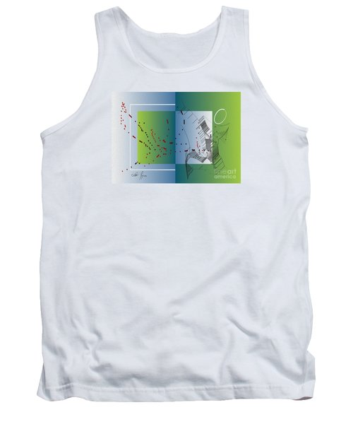Tank Top featuring the digital art Between Heaven And Me by Leo Symon