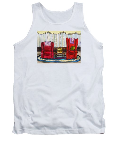 Between Two Reds Tank Top by John Williams