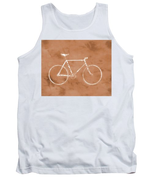 Bicycle On Tile Tank Top by Dan Sproul