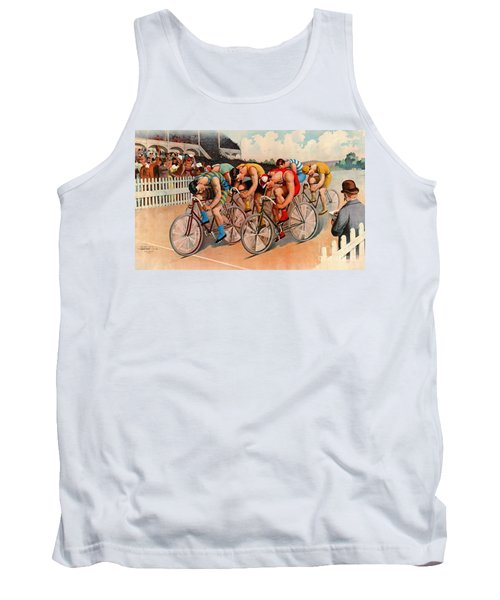 Bicycle Race 1895 Tank Top by Padre Art