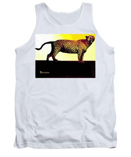 Big Game Africa - Leopard Tank Top by Sadie Reneau
