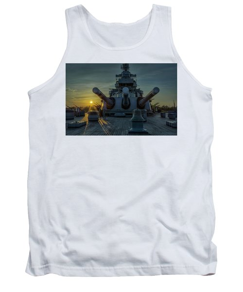 Big Guns At Sunset Tank Top by Denis Lemay
