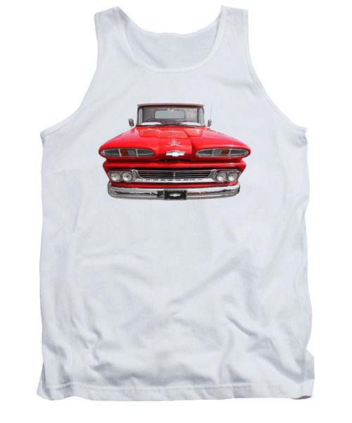 Tank Top featuring the photograph Big Red - 1960 Chevy by Gill Billington