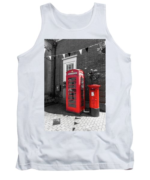 Tank Top featuring the photograph Big Red Little Red by Scott Carruthers