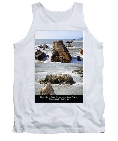 Tank Top featuring the photograph Big Rocks In Grey Water Duo by Barbara Snyder