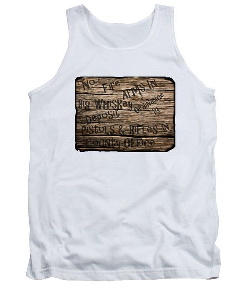 Big Whiskey Fire Arm Sign Tank Top