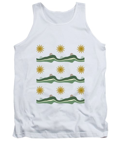 Bike Pattern Tank Top