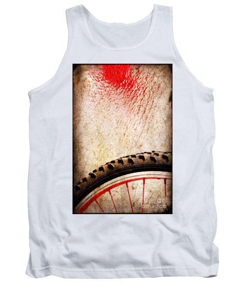 Bike Wheel Red Spray Tank Top
