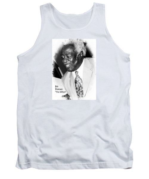 Tank Top featuring the photograph Bill Pinkney Of The Drifters by Bob Pardue