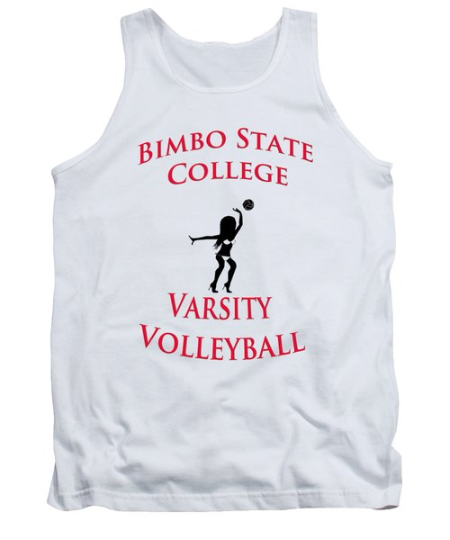 Tank Top featuring the drawing Bimbo State College - Varsity Volleyball by Bill Cannon
