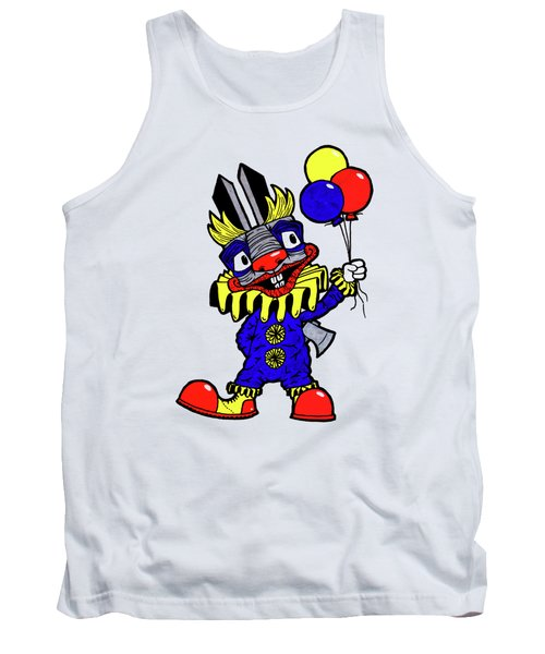 Binky The Bunny Clown Tank Top by Bizarre Bunny