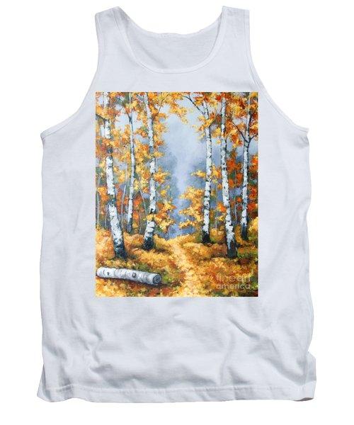 Birch Forest Path Tank Top