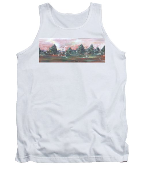 Tank Top featuring the painting Birch Grove by Pat Purdy