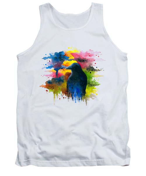 Bird 71 Crow Raven Tank Top
