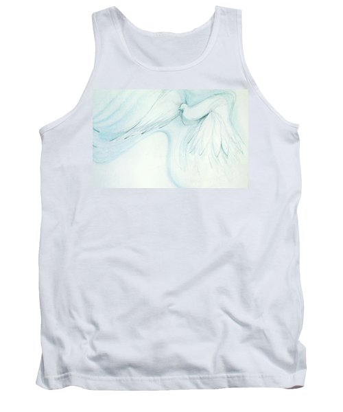 Tank Top featuring the drawing Bird In Flight by Denise Fulmer