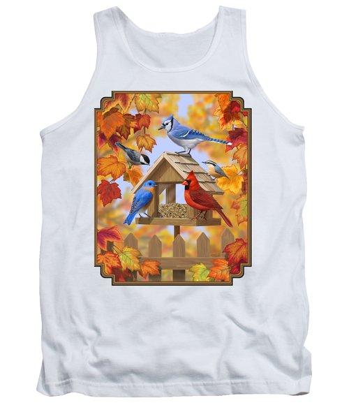 Bird Painting - Autumn Aquaintances Tank Top