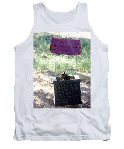 Bird Seed Thief Chipmunk Tank Top