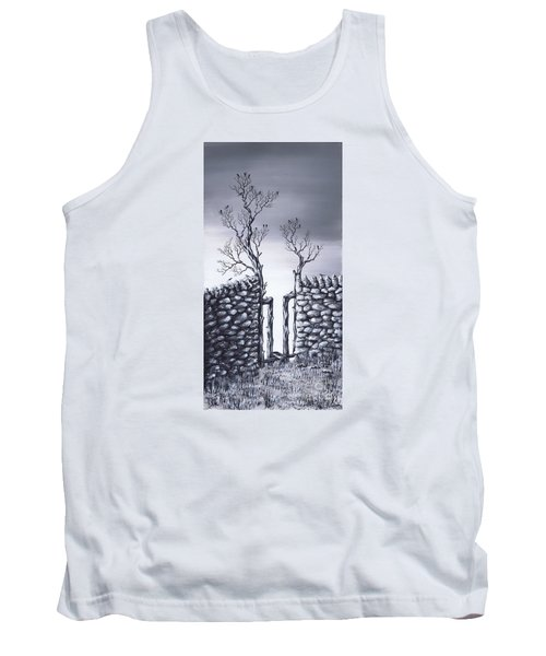 Tank Top featuring the painting Bird Tree by Kenneth Clarke