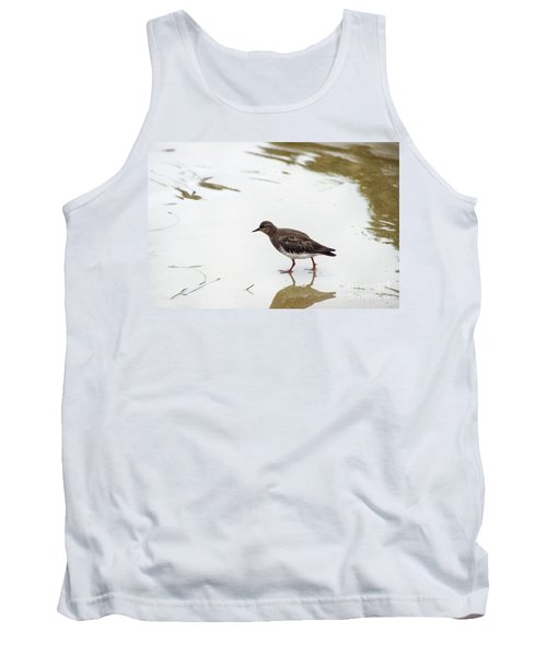 Tank Top featuring the photograph Bird Walking On Beach by Mariola Bitner
