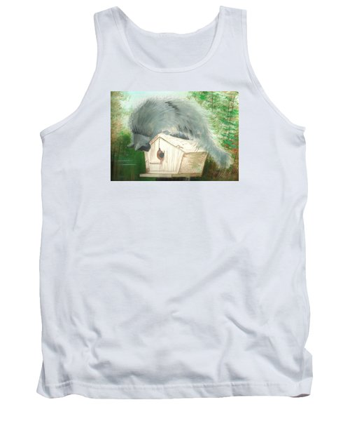 Tank Top featuring the painting Birdie In The Hole by Denise Fulmer