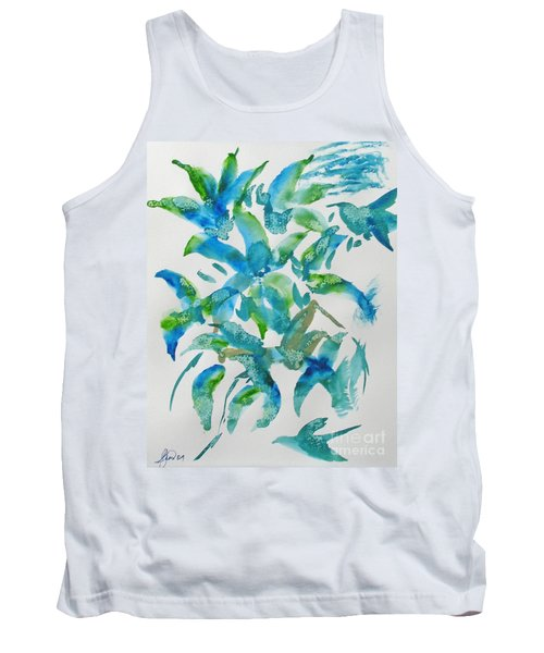 Birds And Blooms Tank Top