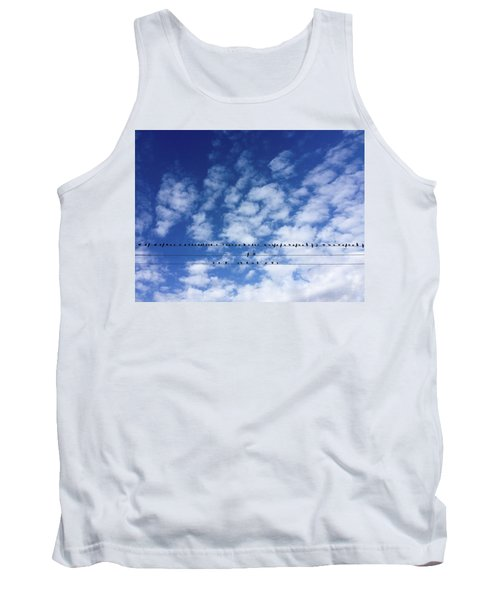 Birds On Wire Tank Top