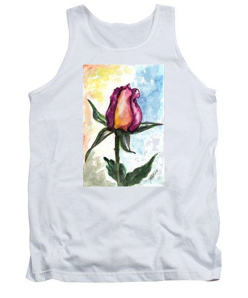 Tank Top featuring the painting Birth Of A Life by Harsh Malik