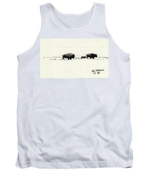 Bison Family Tank Top by Eric Tressler