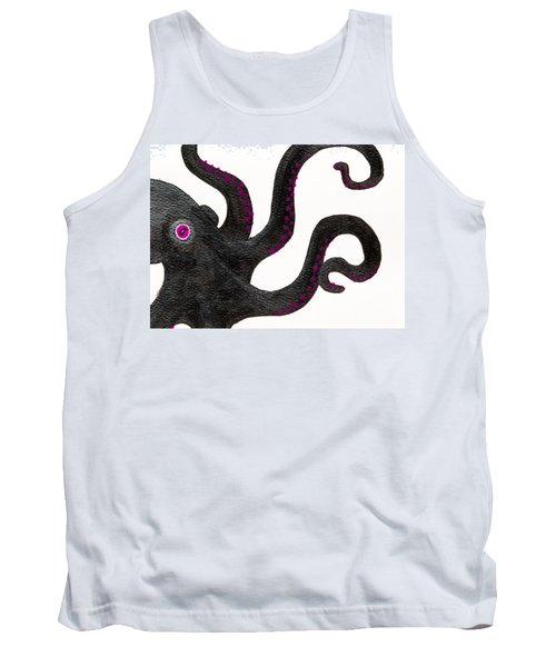 Black And Purple Octopus Tank Top