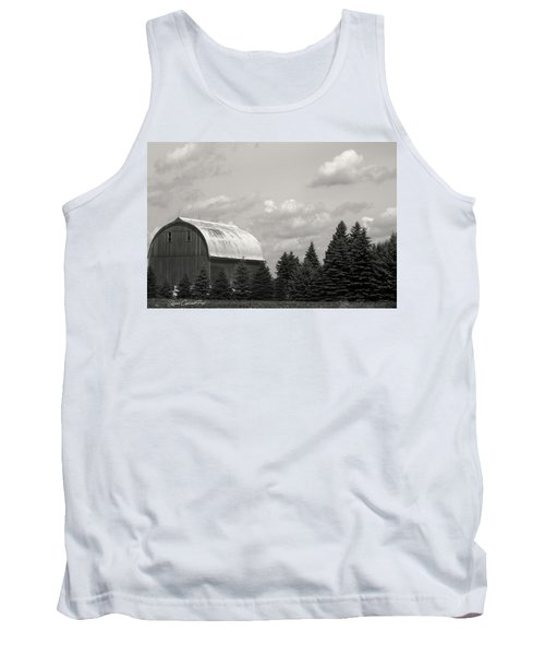 Black And White Barn Tank Top