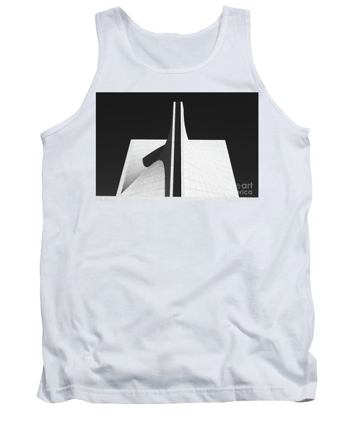 Tank Top featuring the photograph Black And White Building by MGL Meiklejohn Graphics Licensing