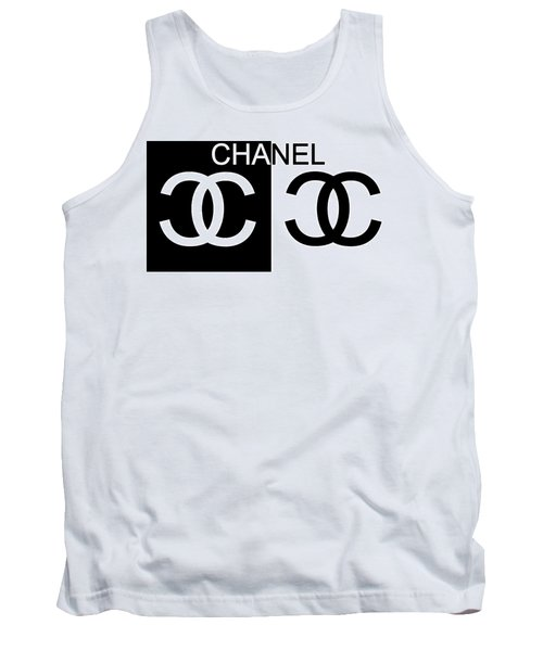 Black And White Chanel 2 Tank Top