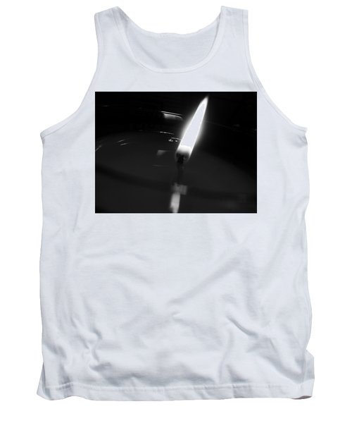Black And White Flame Tank Top