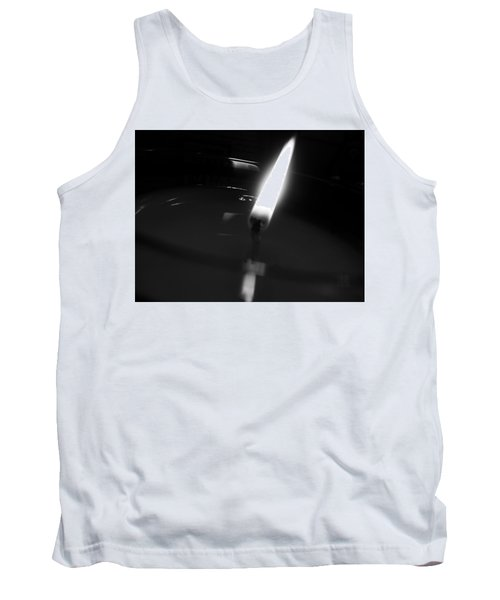 Tank Top featuring the photograph Black And White Flame by Robert Knight