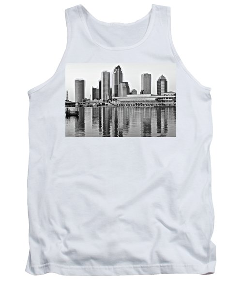 Black And White In The Heart Of Tampa Bay Tank Top by Frozen in Time Fine Art Photography