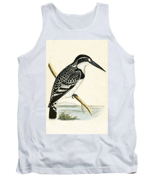 Black And White Kingfisher Tank Top