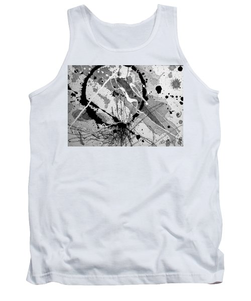 Black And White One Tank Top by Tracy Bonin