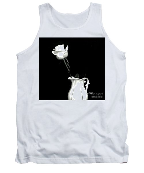 Tank Top featuring the photograph Black And White Rose Three by Marsha Heiken