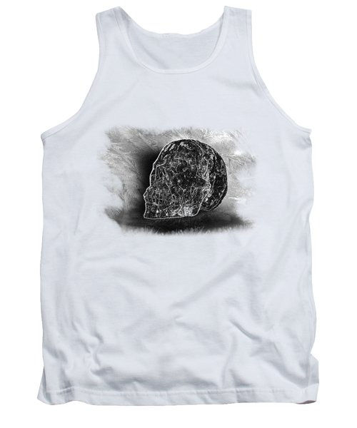 Black And White Skull On Transparent Background Tank Top