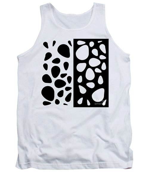 Black And White Teardrops Tank Top