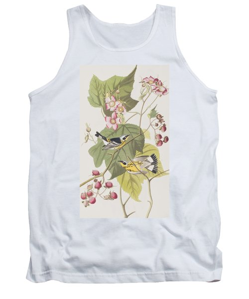 Black And Yellow Warblers Tank Top by John James Audubon