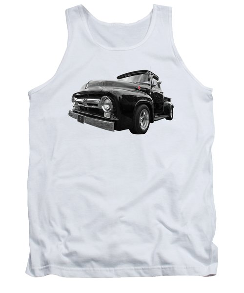Tank Top featuring the photograph Black Beauty - 1956 Ford F100 by Gill Billington