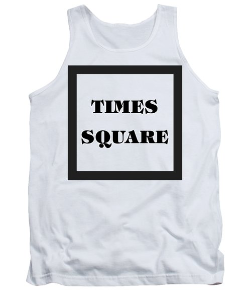 Black Border Times Square Tank Top